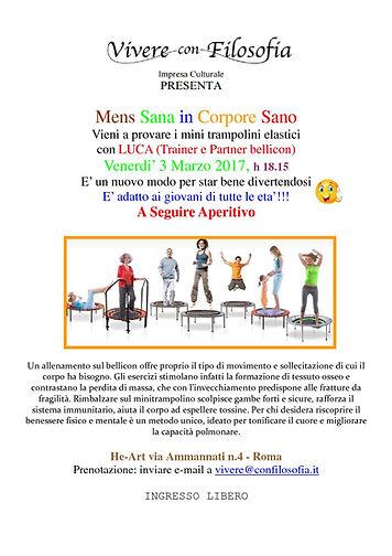 Vivere con Filosofia presenta: Mens sana in corpore sano - 03-03-17 h 18.15 Roma - He-Art via Ammannati 4