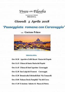Vivere con Filosofia presenta: Passeggiata romana con Caravaggio con Gaetano Peluso - Roma 05/04/2018