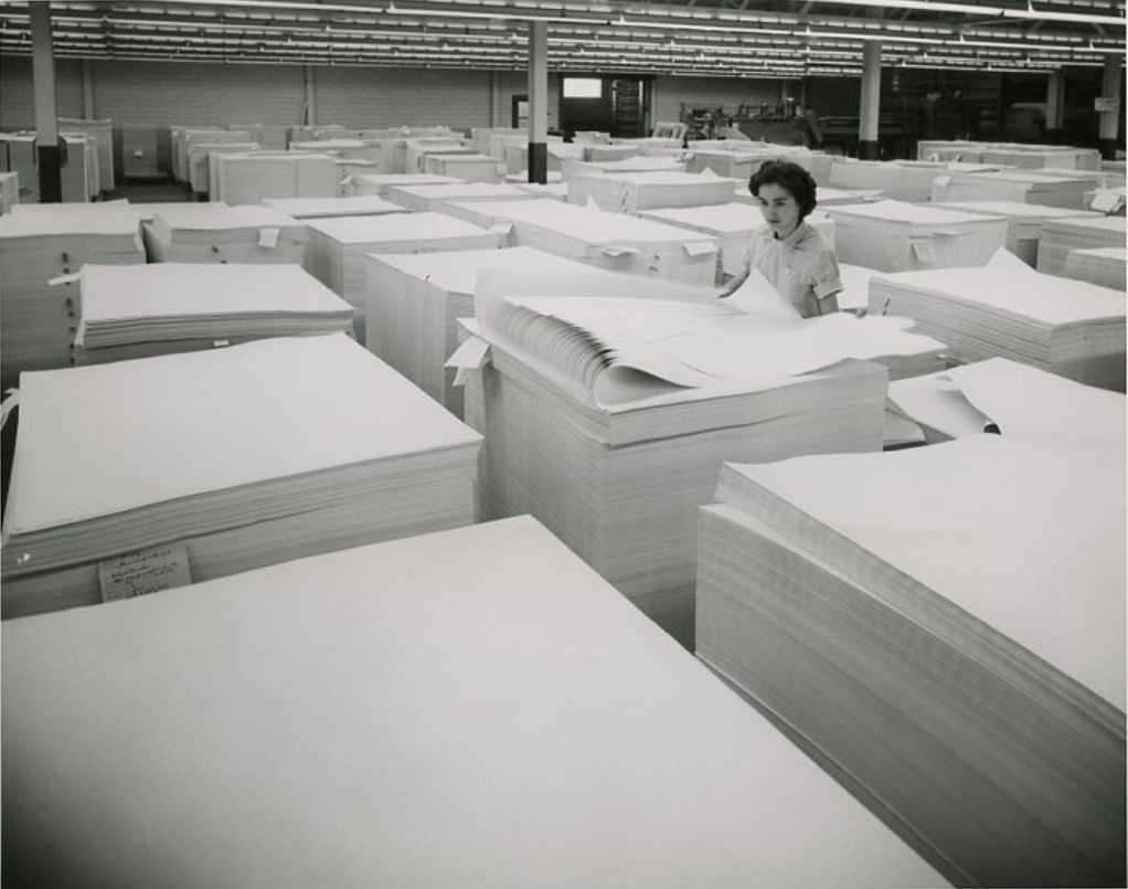 Paper Stacks being checked