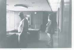 Employees in entryway of Mill