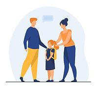 parents-preparing-cute-daughter-school-love-study-backpack-flat-illustration-cartoon-illus