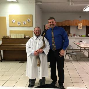 Pastor Jim with Pastor/Rabbi Robert Pristoop