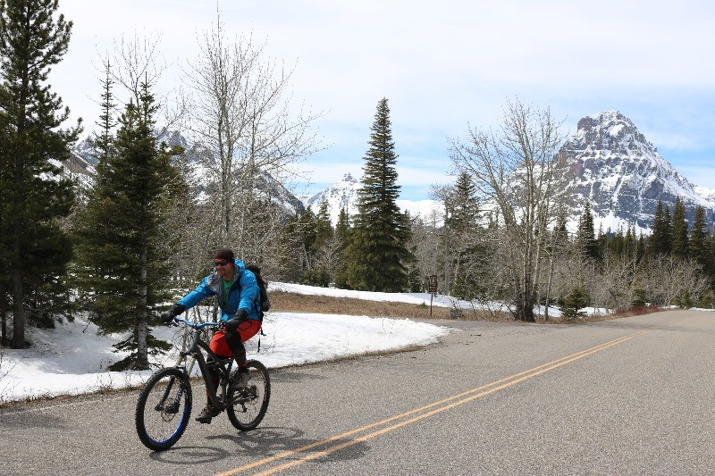 Healthy behavior changes and riding bikes in Glacier National Park