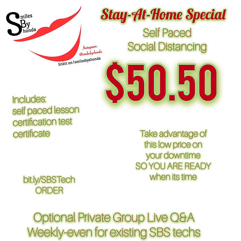 Smiles By Shonda Social Distancing Tech Special-Self Paced