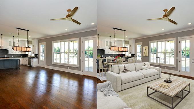 not staged home vs staged home
