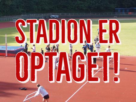Stadion er optaget grundet Atletikcamp