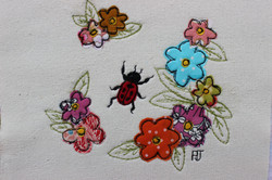 Flowers with Ladybird