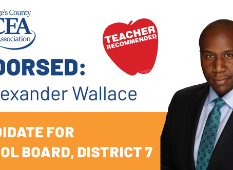 District 7 School Board Member K. Alexander Wallace Endorsed by Teachers' Union for 2020 Re-Elec