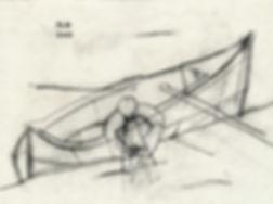 båt, tegning, Morten Hansen