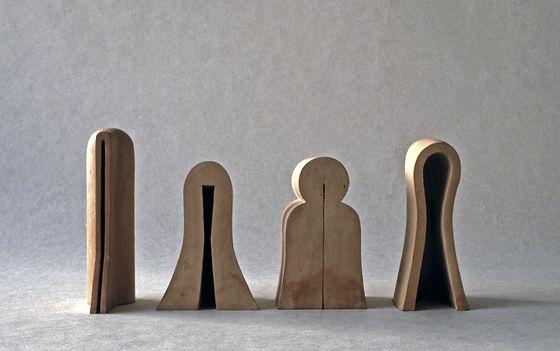 skulpturer, brent leire, Kristine Hjertholm