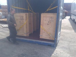 Crated up for the long journey B