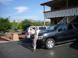Next Morning outside motel