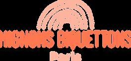 Logo mignons biquetons Lettrage arc en c