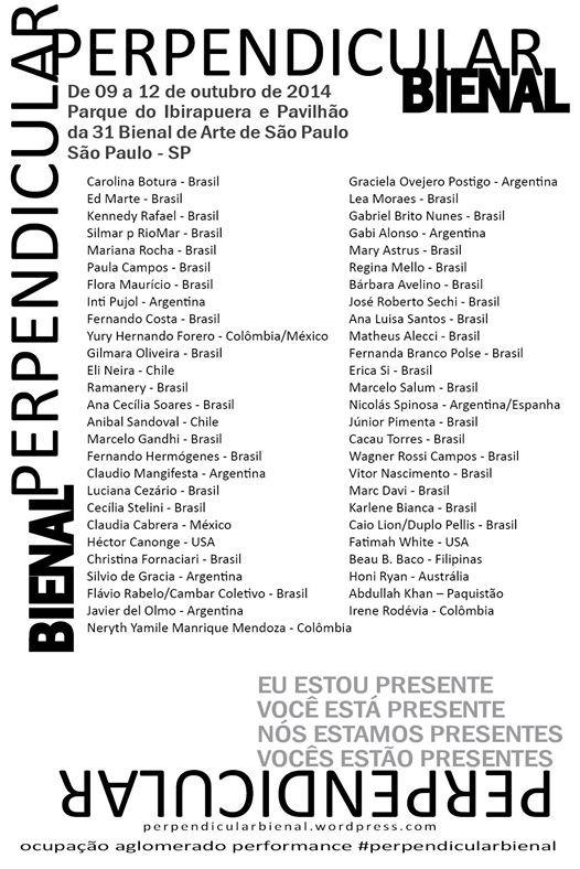 Perpendicular Bienal, Brazil.