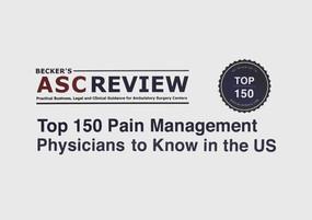 Top 150 Pain Management Physicians