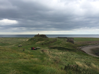 Holy Island, Lindisfarne Abbey and Castle.