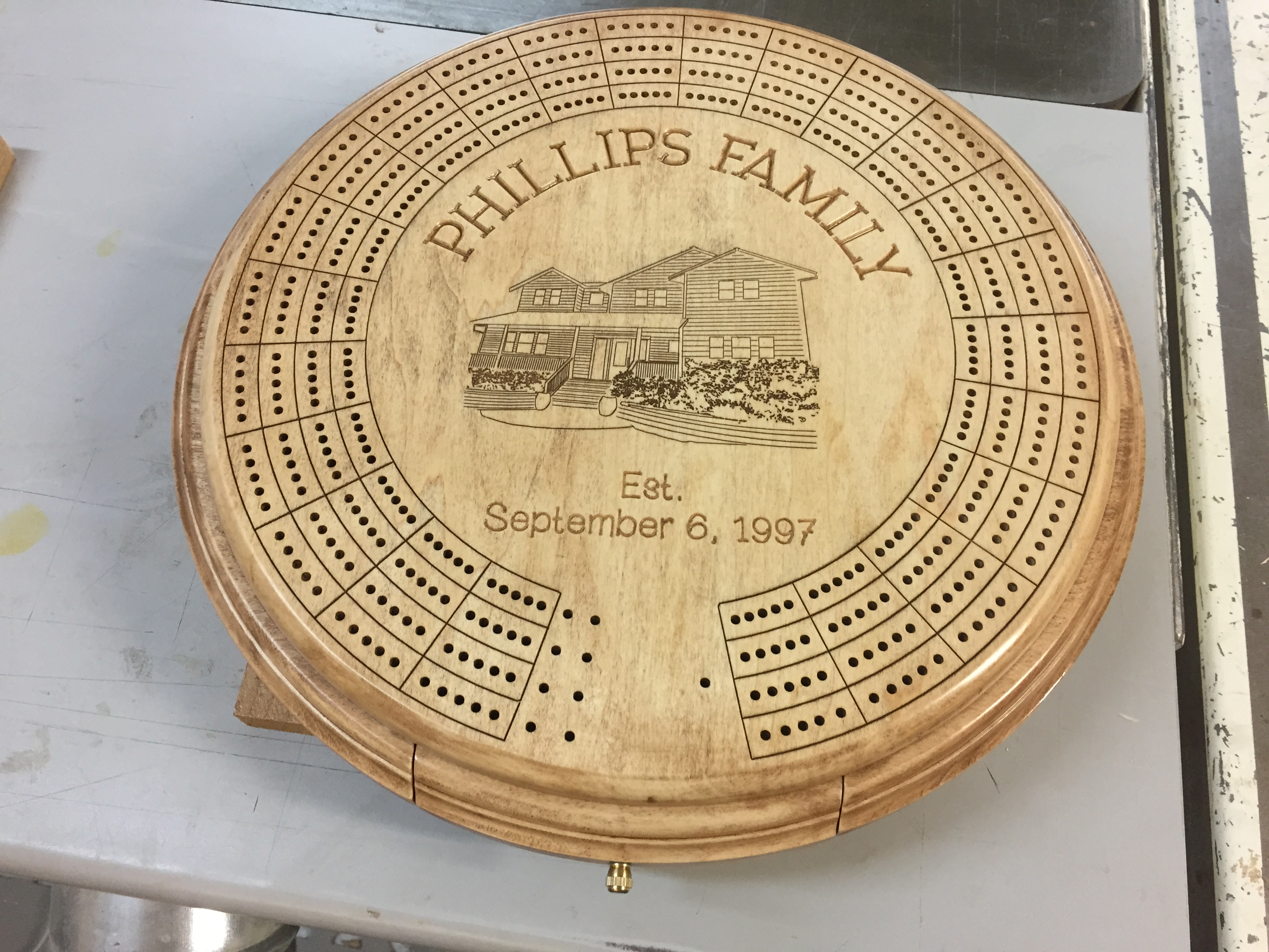 Personalized Cribbage Board