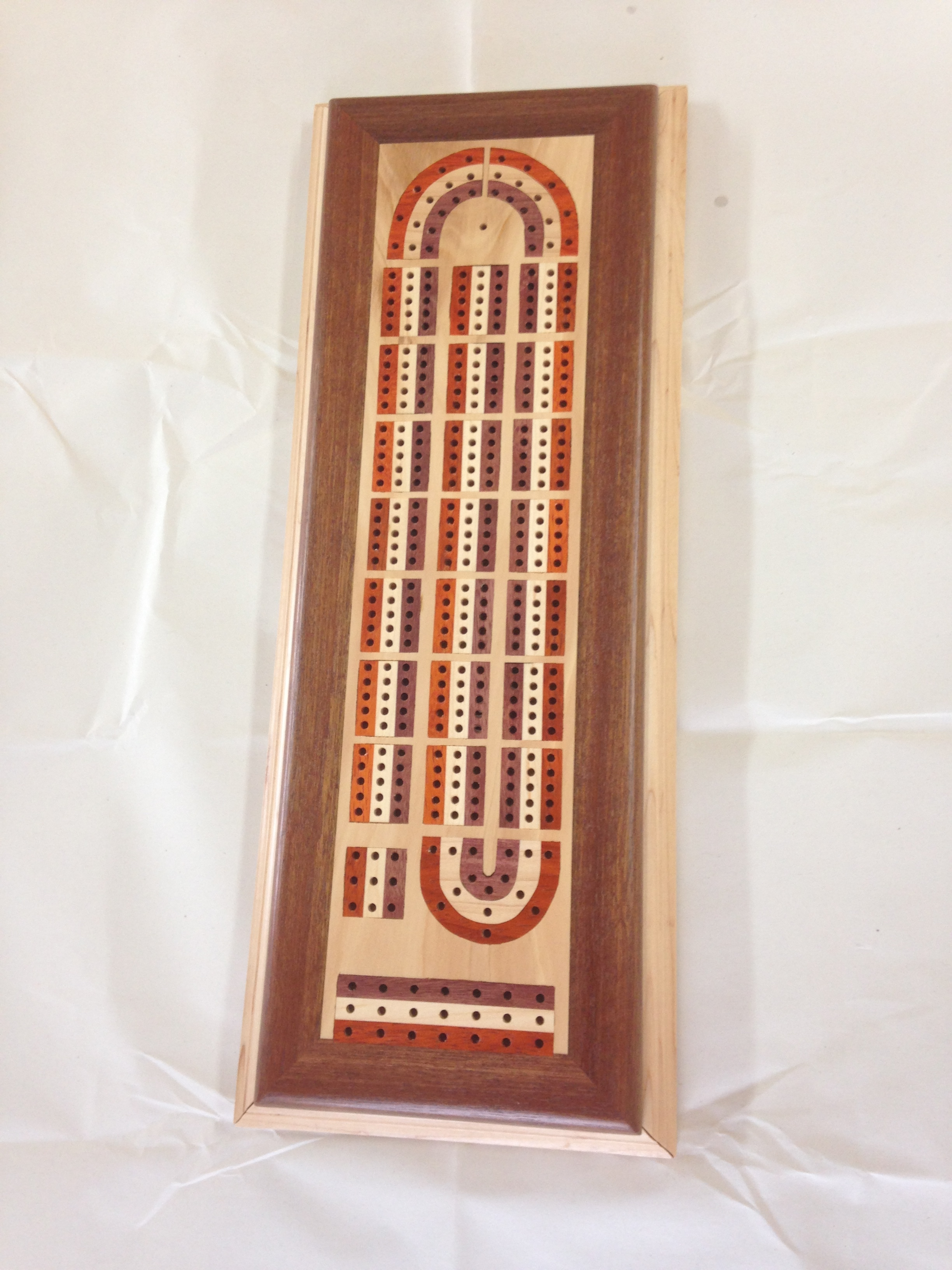 Inlayed Cribbage Board