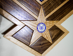 The star with inset challenge coin