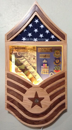 USAF Shadow Box With Lights & Etched Glass