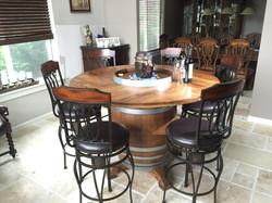 Custom Wine Barrel Table