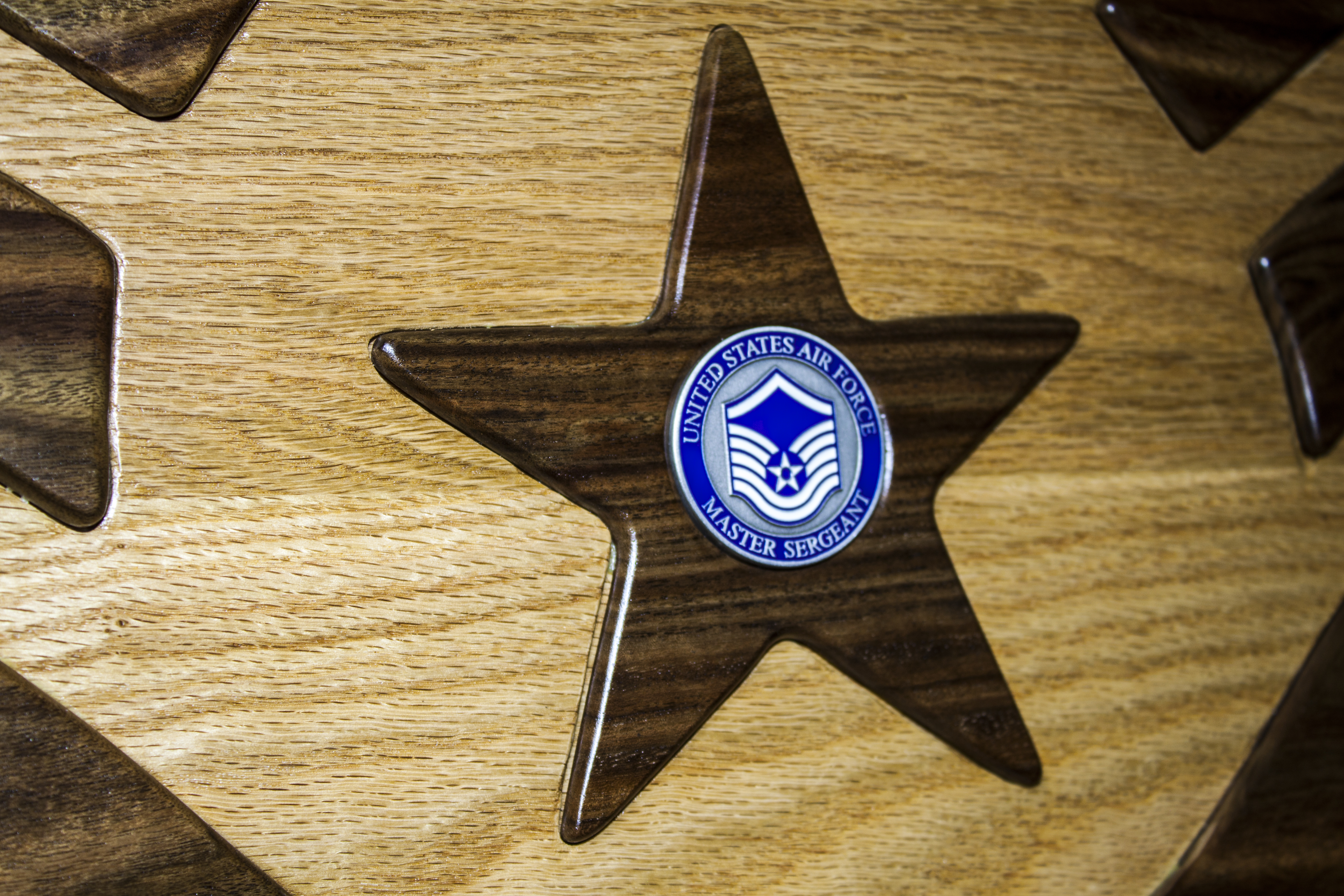 Inlayed Star with challenge coin
