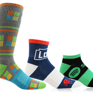 Logo socks full color dress socks