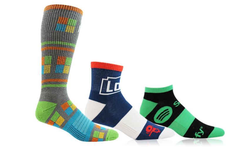 Logo socks full color dress socks