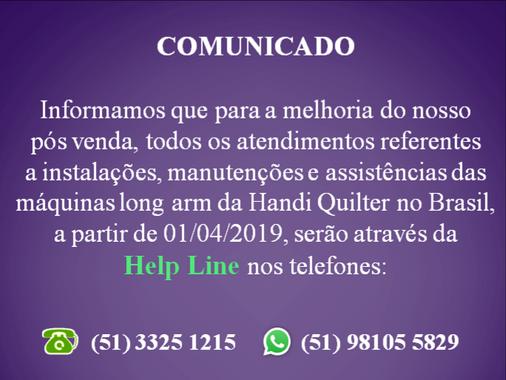 NOVA HELP LINE HANDI QUILTER BRASIL