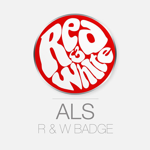 RED & WHITE BADGE