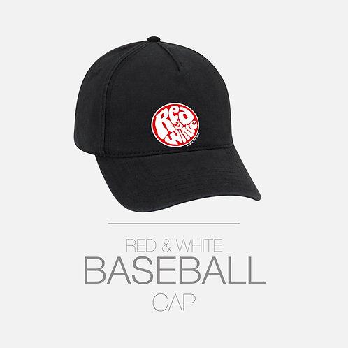 RED & WHITE BASEBALL CAP