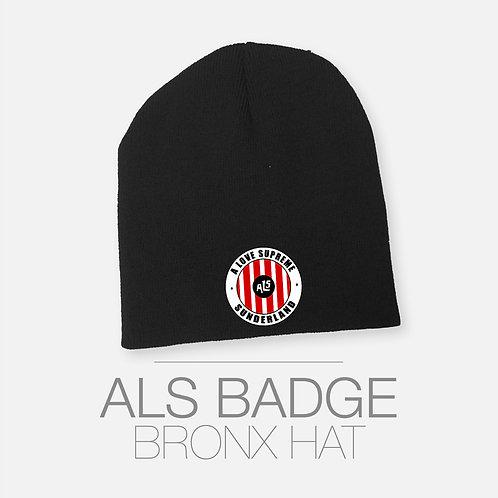 Striped Badge Bronx Hat