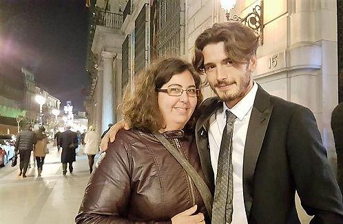 Yon González en premios mujerhoy 2017 con talymanzano