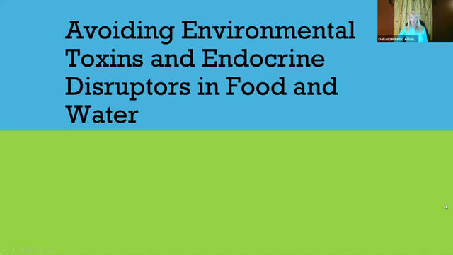Avoiding Environmental Toxins and Endocrine Disruptors in Food and Water