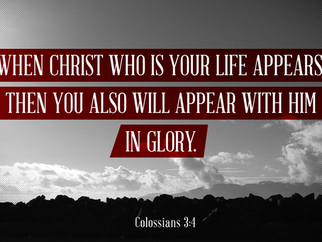 When We Appear With Christ In Glory