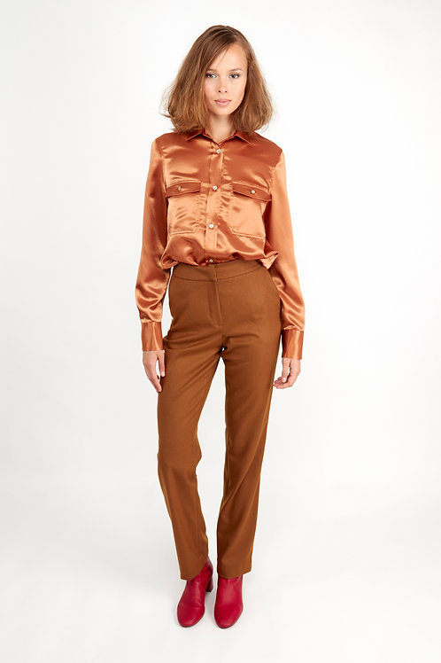 Catarina Shell Button Shirt - Tan