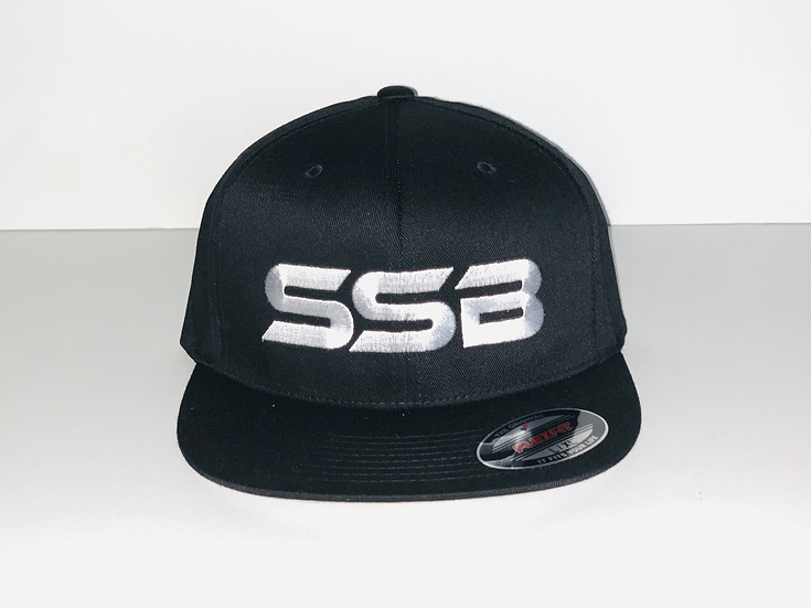 SSB WHITE LOGO FITTED HAT