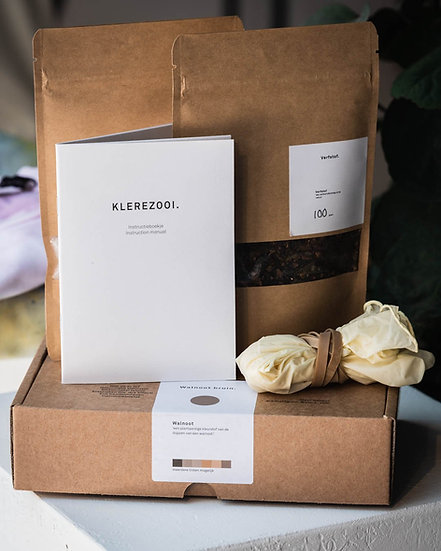 Klerezooi - Natuurlijke Kleurstof Kit Bruin