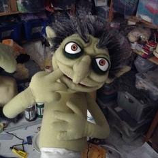 goblin handpop -Goblin hand and rod puppet