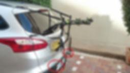 מנשא אופניים לדלת חמישית של פורד פוקוס