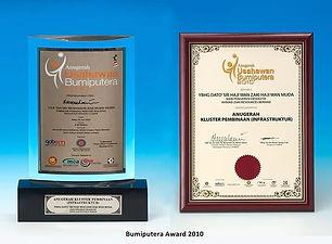 2010 - Bumiputera Entrepreneur Award 201