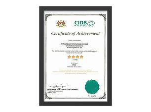 2016 - Score Certificate for AZRB 2016 -