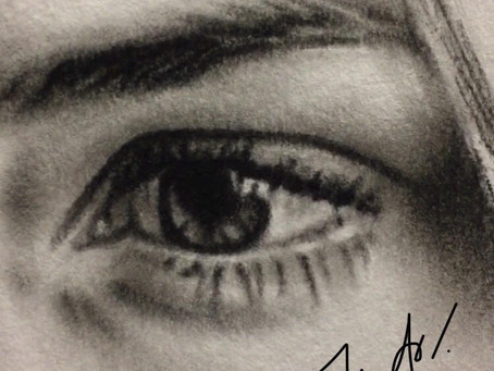 "Tip #4 ""The Secret of Realistic Eyes"" (how to draw a perfect charcoal portrait with a refe"