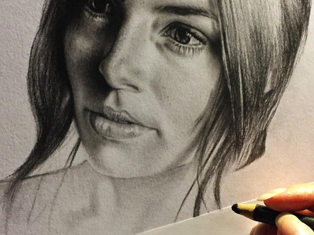 "Tip #5 ""Clean drawing"" (how to draw a perfect charcoal portrait with a reference)"