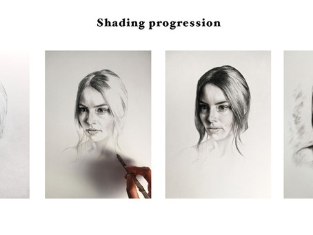 "Tip #10 ""Shading"" (how to draw a perfect charcoal portrait with a reference)"