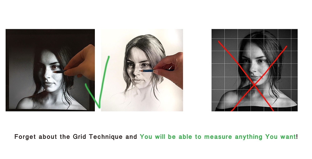 measuring a drawing