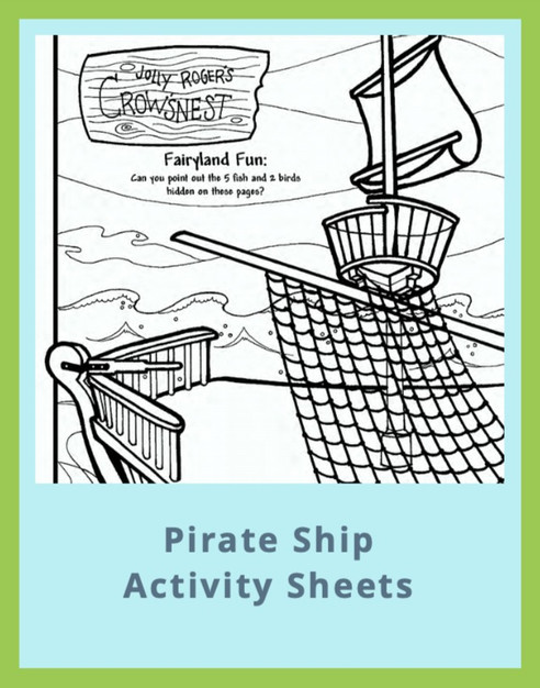 Pirate Ship Activity Sheets