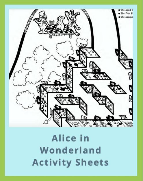 Alice in Wonderland Activity Sheets