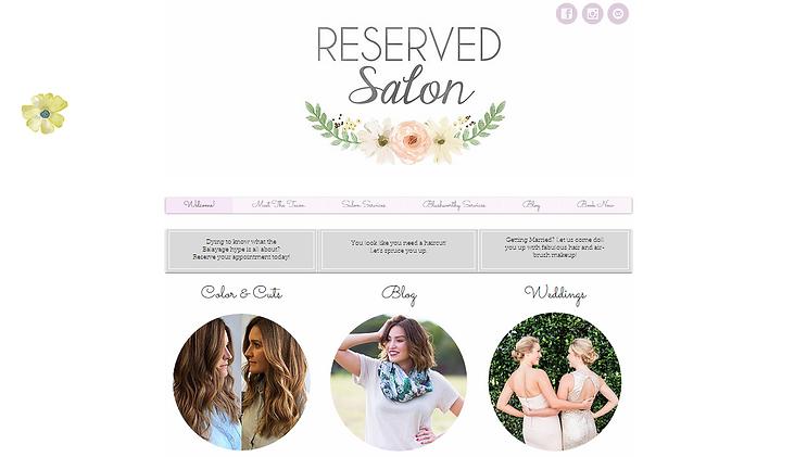 RESERVED Salon   Website Design