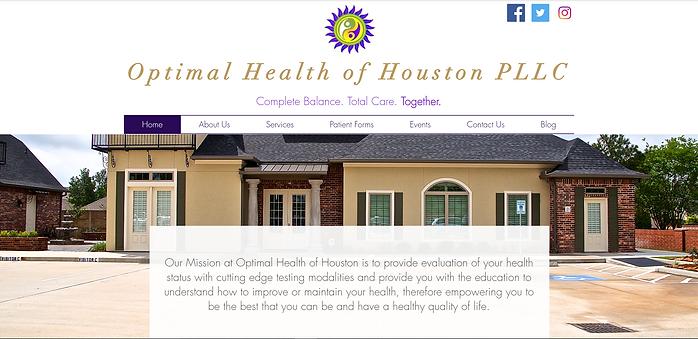 Optimal Health of Houston   Website Design